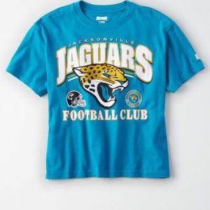 Tailgate Women's Jacksonville Jaguars Cropped T-Shirt Teal S