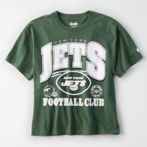Tailgate Women's New York Jets Cropped T-Shirt Team Green XL