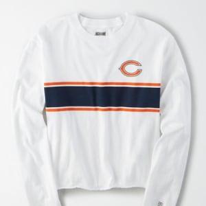 Tailgate Women's Chicago Bears Long Sleeve T-Shirt White XS