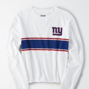 Tailgate Women's New York Giants Long Sleeve T-Shirt White M