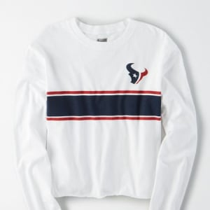 Tailgate Women's Houston Texans Long Sleeve T-Shirt White L