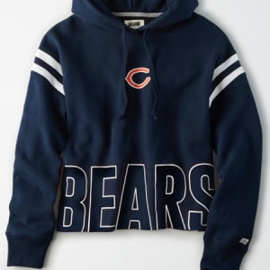 Tailgate Women's Chicago Bears Cropped Hoodie Basic Navy S