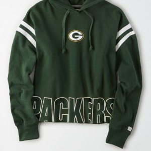 Tailgate Women's Green Bay Packers Cropped Hoodie Team Green XL