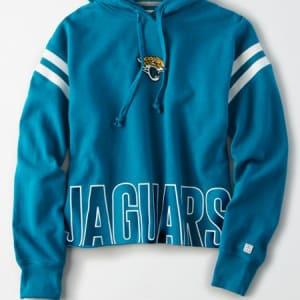 Tailgate Women's Jacksonville Jaguars Cropped Hoodie Teal L