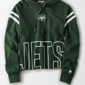 Tailgate Women's New York Jets Cropped Hoodie Team Green M