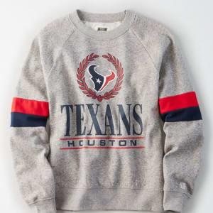 Tailgate Women's Houston Texans Raglan Sweatshirt Gray Heather S