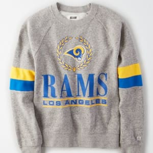 Tailgate Women's Los Angeles Rams Raglan Sweatshirt Gray Heather XL