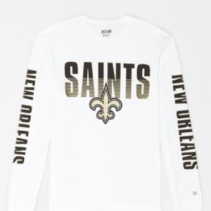 Tailgate Men's New Orleans Saints Long Sleeve T-Shirt White XS