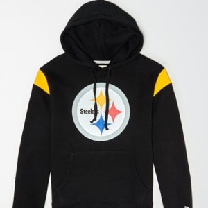 Tailgate Men's Pittsburgh Steelers Fleece Hoodie Bold Black XS
