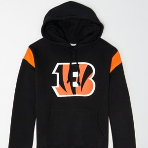 Tailgate Men's Cincinnati Bengals Fleece Hoodie Bold Black XS