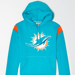 Tailgate Men's Miami Dolphins Fleece Hoodie Turquoise XL