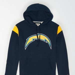 Tailgate Men's Los Angeles Chargers Fleece Hoodie Basic Navy XXL