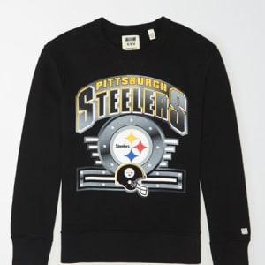Tailgate Men's Pittsburgh Steelers Crewneck Sweatshirt Bold Black M