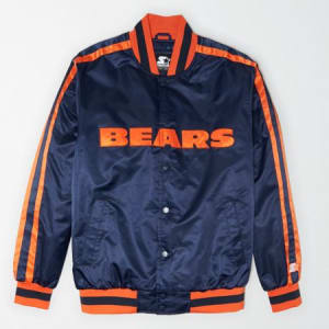 Tailgate X Starter Men's Chicago Bears Varsity Jacket Basic Navy M