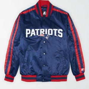 Tailgate X Starter Men's New England Patriots Varsity Jacket Basic Navy M