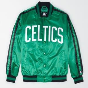 Tailgate X Starter Men's Boston Celtics Varsity Jacket Green Rush S