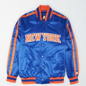 Tailgate X Starter Men's New York Knicks Varsity Jacket Brilliant Blue XS