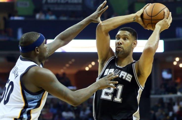 鄧肯對位「黑熊」Randolph,到底誰佔優?對比55次交手數據,結果讓人很意外!-籃球圈