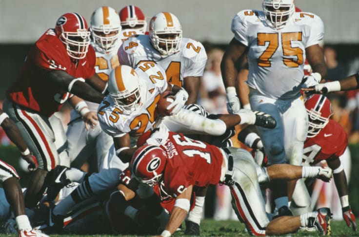Tennessee Football Vols Five Wins Vs Georgia With Both Teams Undefeated