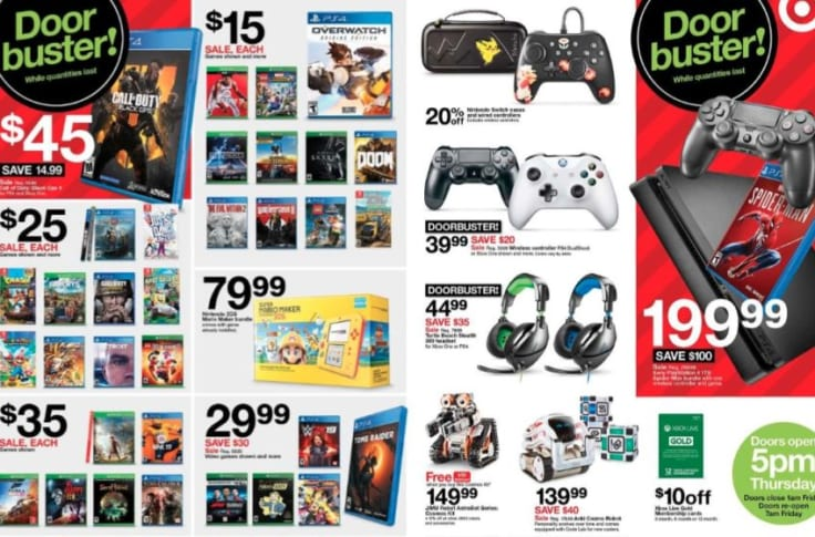 Black Friday 2018 Target Gaming Deals For Xbox One Ps4 And Switch