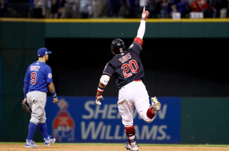 Rajai Davis #20 of the Cleveland Indians (Photo by Ezra Shaw/Getty Images)