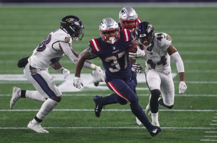 New England Patriots Damien Harris Breaking Out Into A Powerful Force