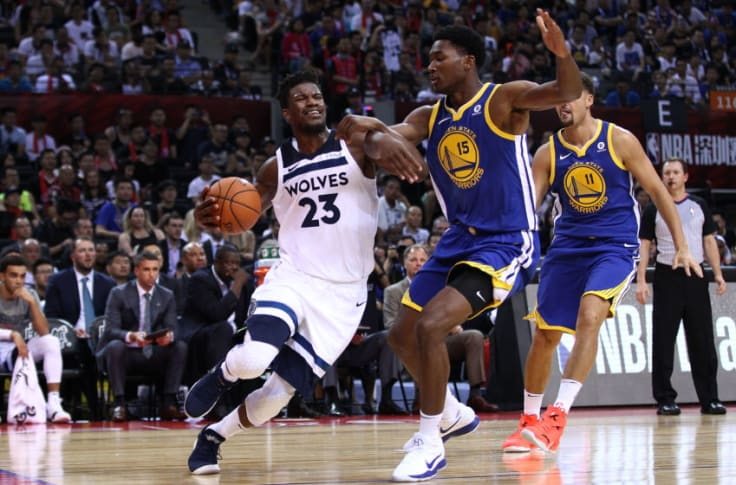 Timberwolves Wrap Wiggins Bench Rally Wolves Past Warriors