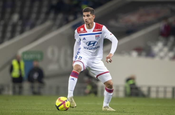 Barcelona want Lyon youngster Houssem Aouar to replace Ivan Rakitić