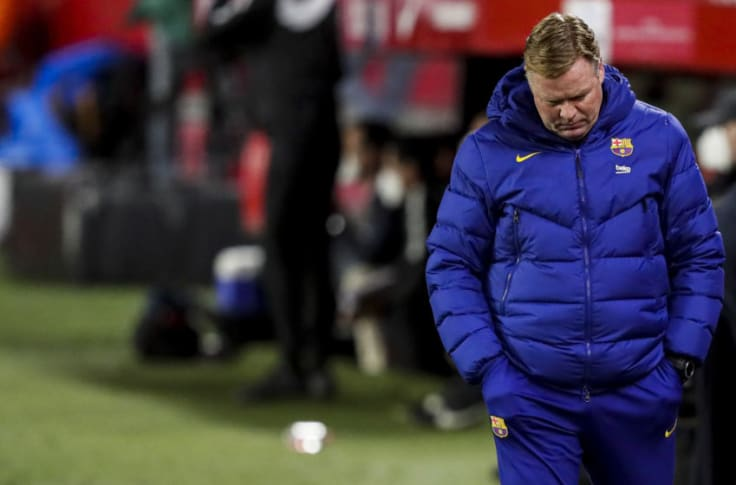 coach Ronald Koeman of FC Barcelona (Photo by David S. Bustamante/Soccrates/Getty Images)