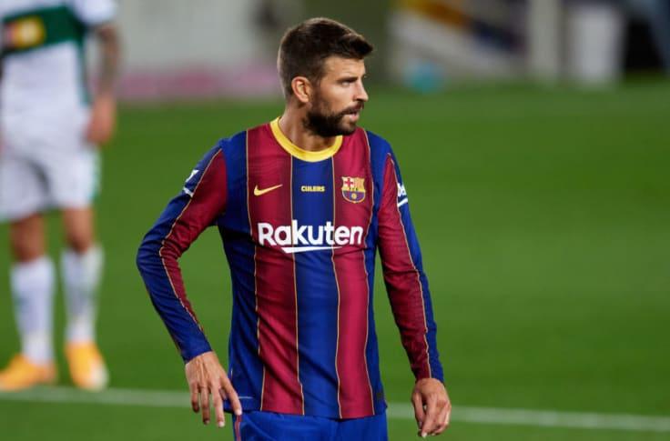 Gerard Pique of FC Barcelona. (Photo by Alex Caparros/Getty Images)