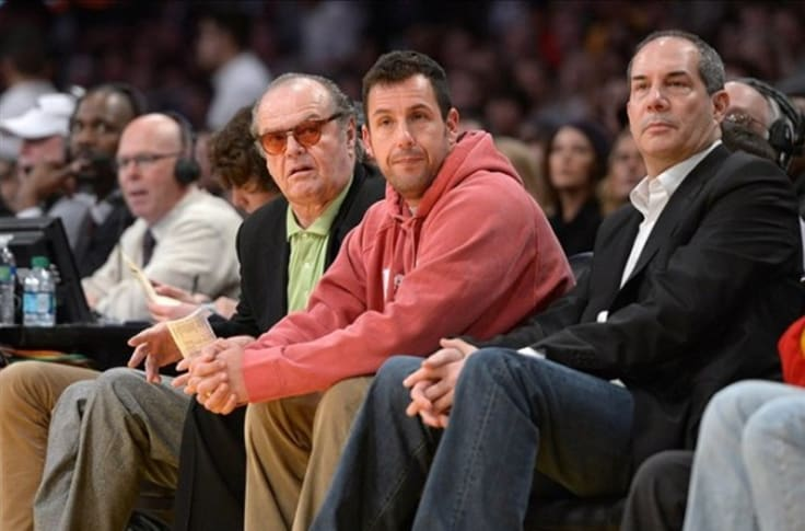 Jack Nicholson And Adam Sandler Disgustedly Leave Lakers Game Early Video
