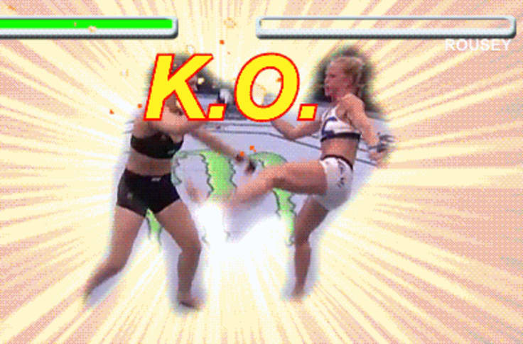 Holly Holm S Ko Of Ronda Rousey In Street Fighter Ii Gif