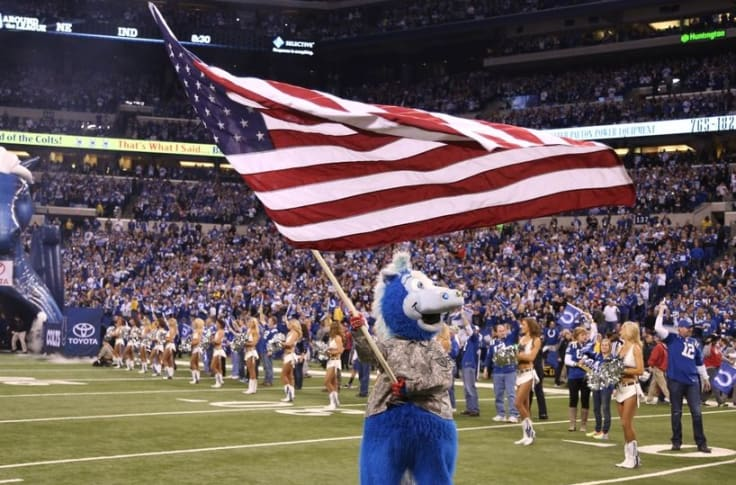 Colts Mascot Blue Named Mascot Of The Year