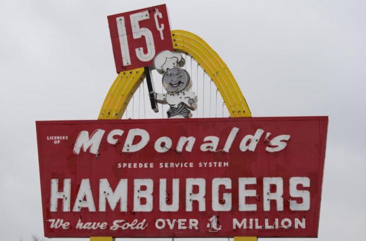 McDonald's social proof.