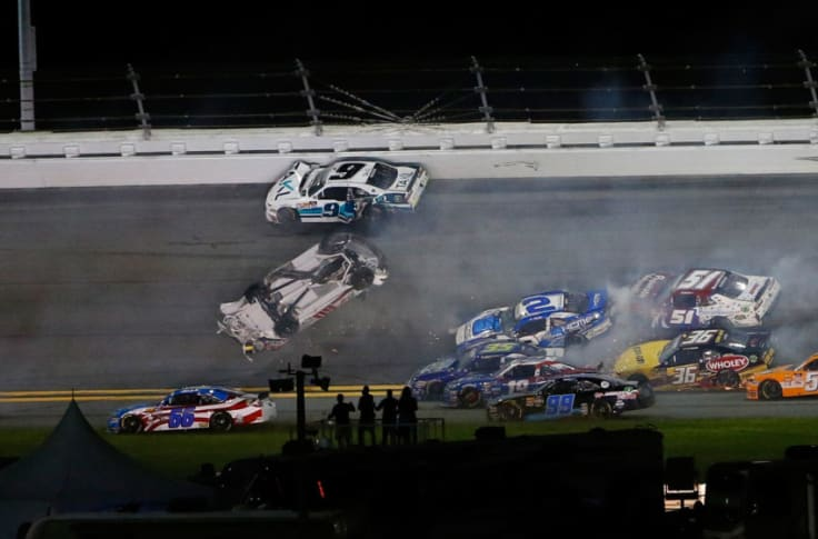 Nascar Austin Cindric Upside Down In Big One At Daytona Xfinity Race