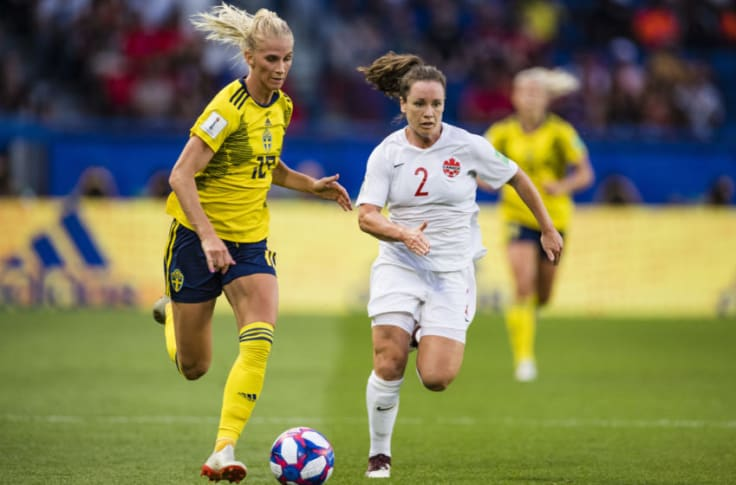 Sweden S Sofia Jakobsson Scores The First Goal Against Germany Video