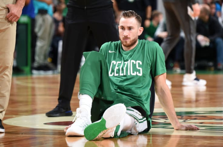 Gordon Hayward Suffers Ankle Sprain In Game 1 Vs 76ers Video