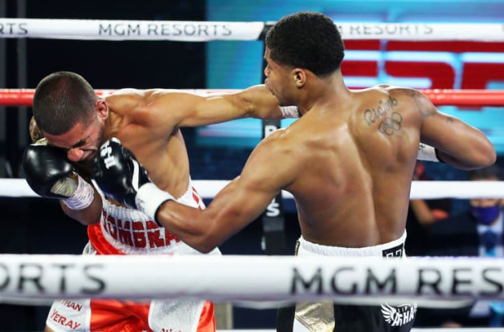 Shakur Stevenson welcomes boxing back with KO of Felix Caraballo