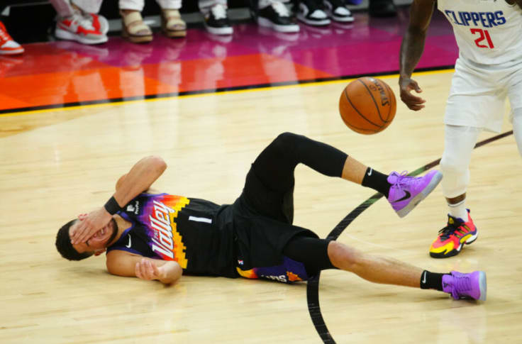 Look: Devin Booker needed stitches after Patrick Beverly headbutt