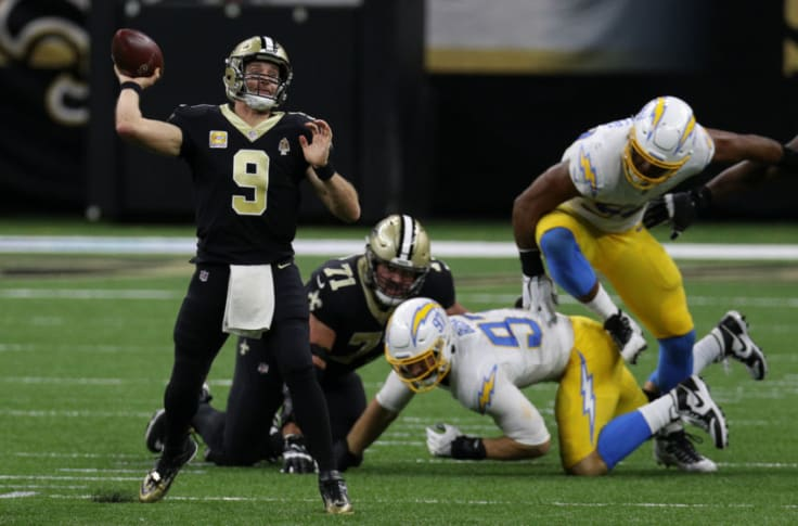 Drew Brees Still Perfect Against Chargers After Monday Night Comeback