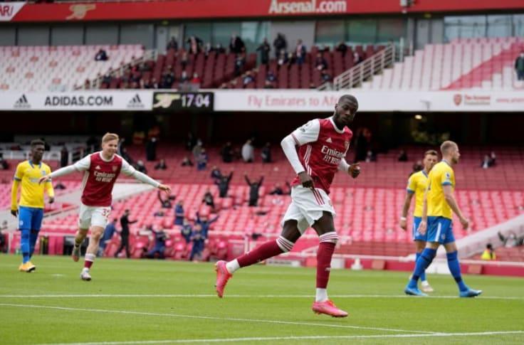 Arsenal player ratings vs Brighton: Nicolas Pepe at the double