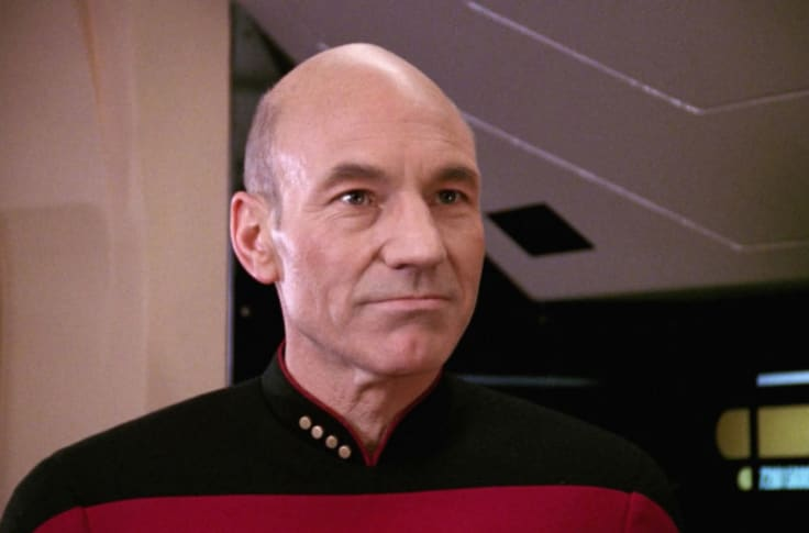 No, Jean-Luc Picard was never presented as infallible