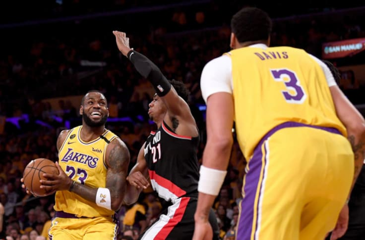 Portland Trail Blazers Down The Los Angeles Lakers 100 93 In Huge Upset