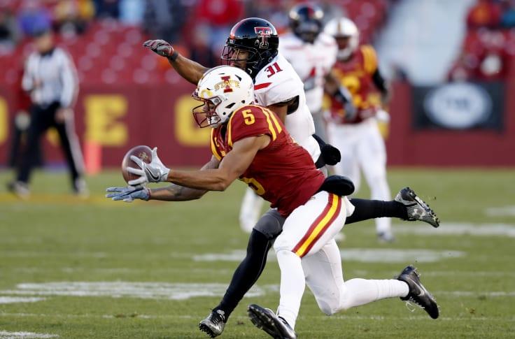 Iowa State Football Allen Lazard Makes Unbelievable Catch Vs Ok State