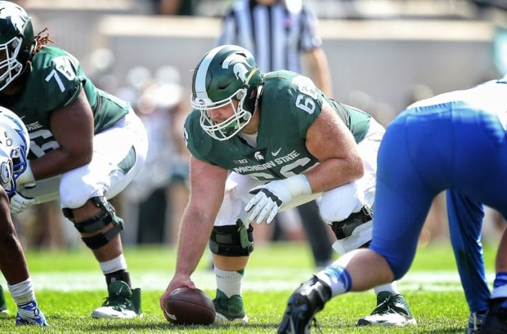 Michigan State Football Jack Allen Promoted To Saints Active Roster