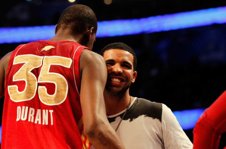 Image result for Drake in Quarantine After Partying With Kevin Durant
