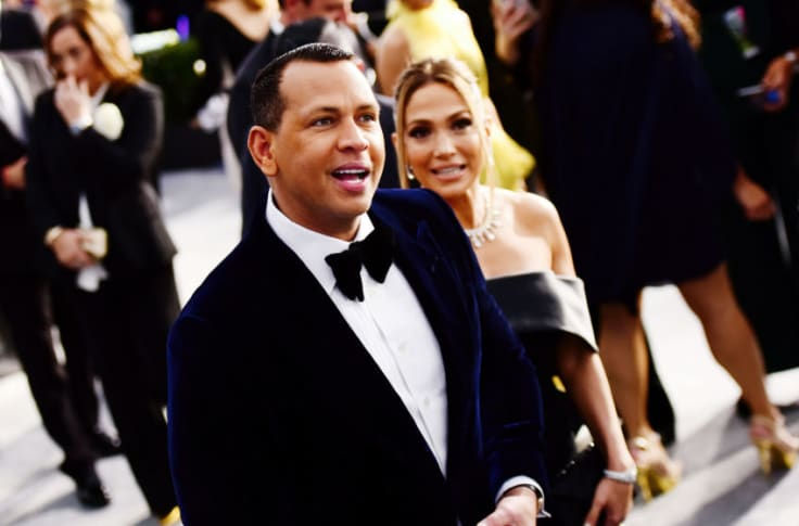 LOS ANGELES, CALIFORNIA - JANUARY 19: Alex Rodriguez and Jennifer Lopez attend the 26th annual Screen ActorsGuild Awards at The Shrine Auditorium on January 19, 2020 in Los Angeles, California. (Photo by Chelsea Guglielmino/Getty Images)