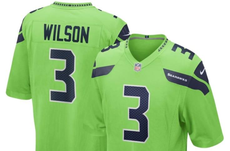 seattle seahawks green jersey