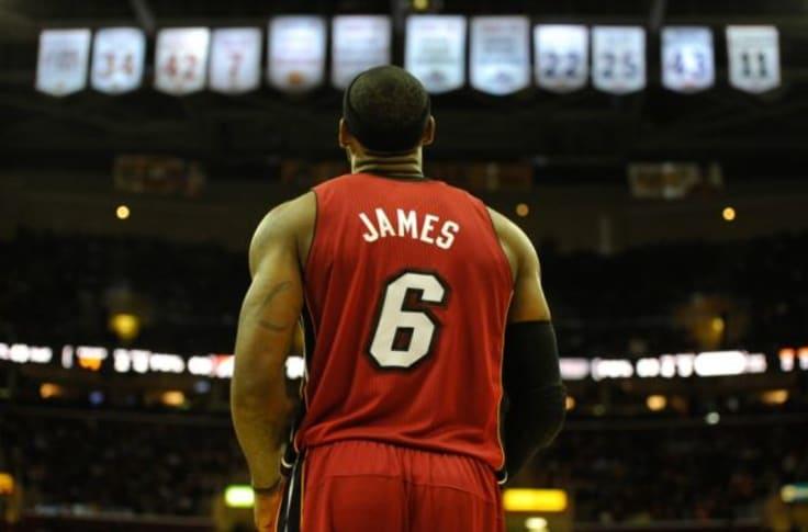 Miami Heat fans burn LeBron James jerseys (Video)