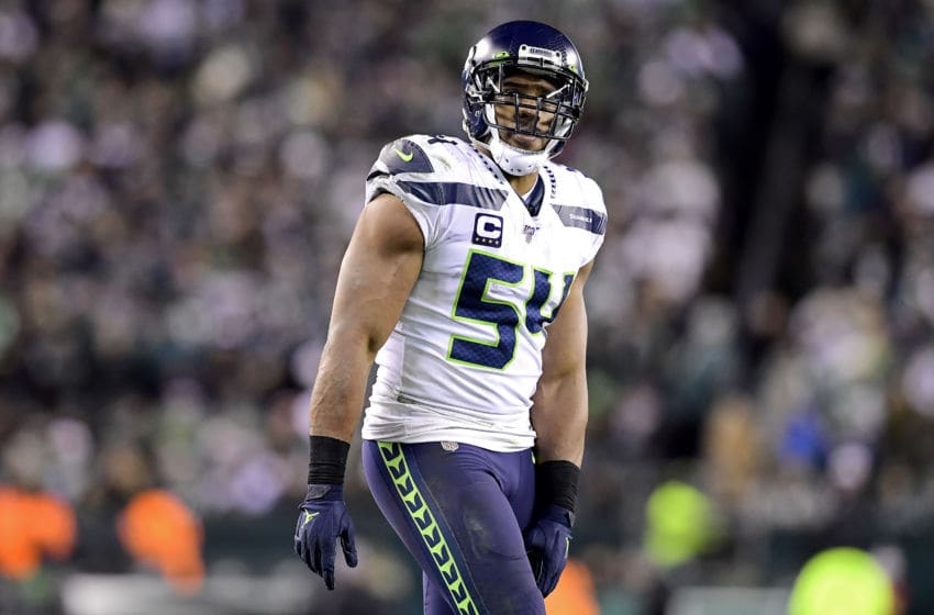 PHILADELPHIA, PENNSYLVANIA - JANUARY 05: Bobby Wagner #54 of the Seattle Seahawks looks on against the Philadelphia Eagles in the NFC Wild Card Playoff game at Lincoln Financial Field on January 05, 2020 in Philadelphia, Pennsylvania. (Photo by Steven Ryan/Getty Images)